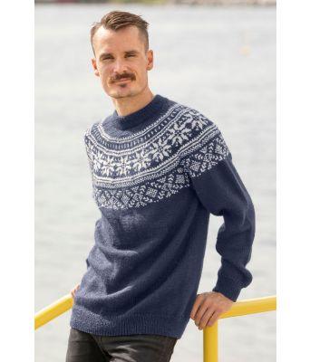 Frost strikkegenser i jeansblå farge - Viking 1921-12