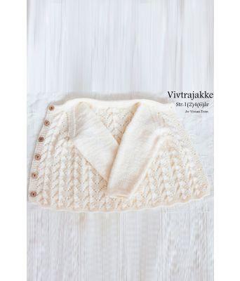Vivtrajakke strikket babyjakke