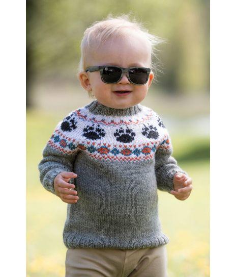 Vilde babygenser med broderte dyrepoter Jarbo 92469