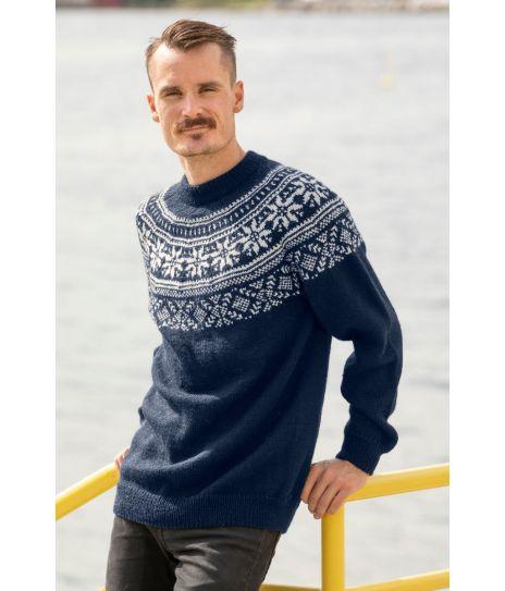 Best pris på Viking Garn Frost Genser Strikkepakke (Herre