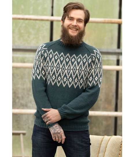 Teak genser til herre fra Viking 1824 5